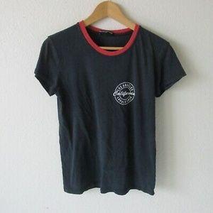 Brandy Melville Black LA Locals Only Ringer Tshirt